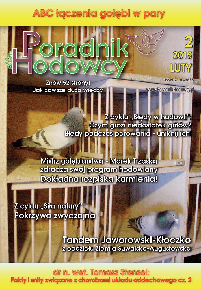 Okładka Poradnika Hodowcy numer luty 2015