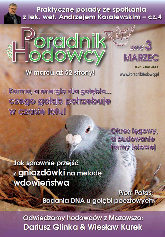 Okładka Poradnika Hodowcy numer marzec 2014