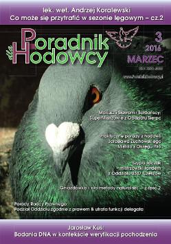 Okładka Poradnika Hodowcy numer marzec 2016