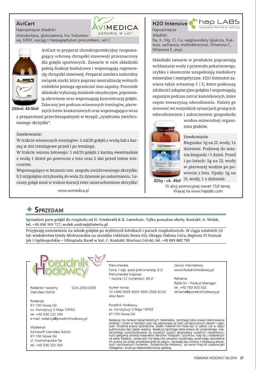 Przegląd Produktów na Rynku - Poradnika Hodowcy numer kwiecień 2014
