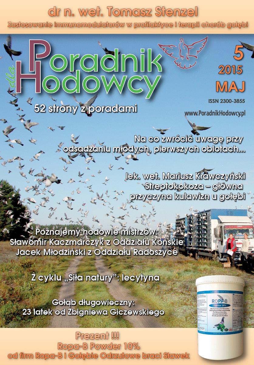 Okładka Poradnika Hodowcy numer maj 2015
