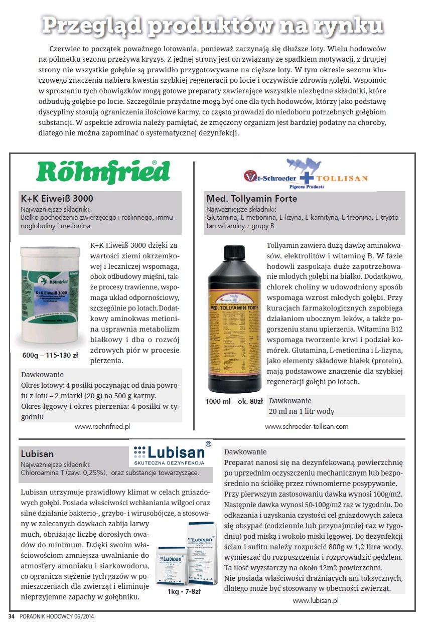 Przegląd Produktów na Rynku - Poradnika Hodowcy numer czerwiec 2014