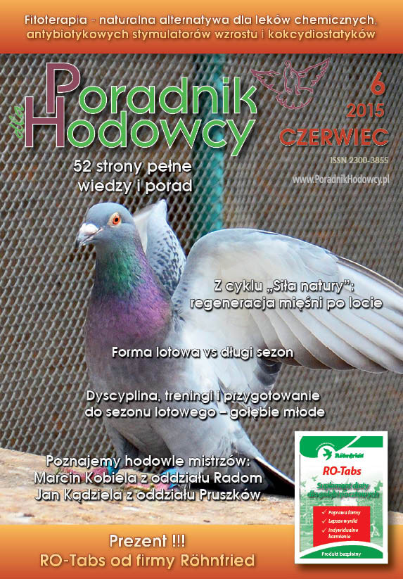 Okładka Poradnika Hodowcy numer czerwiec 2015