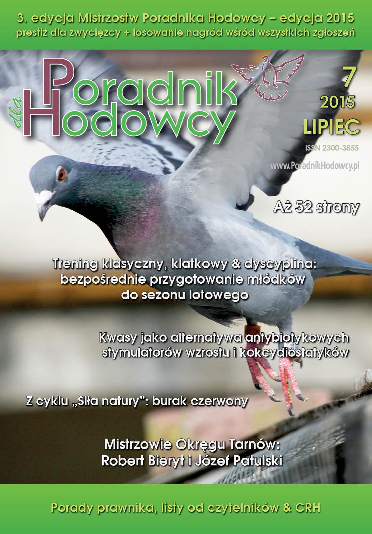 Okładka Poradnika Hodowcy numer lipiec 2015