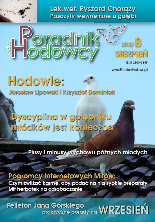 Okładka Poradnika Hodowcy numer 14 sierpień 2013