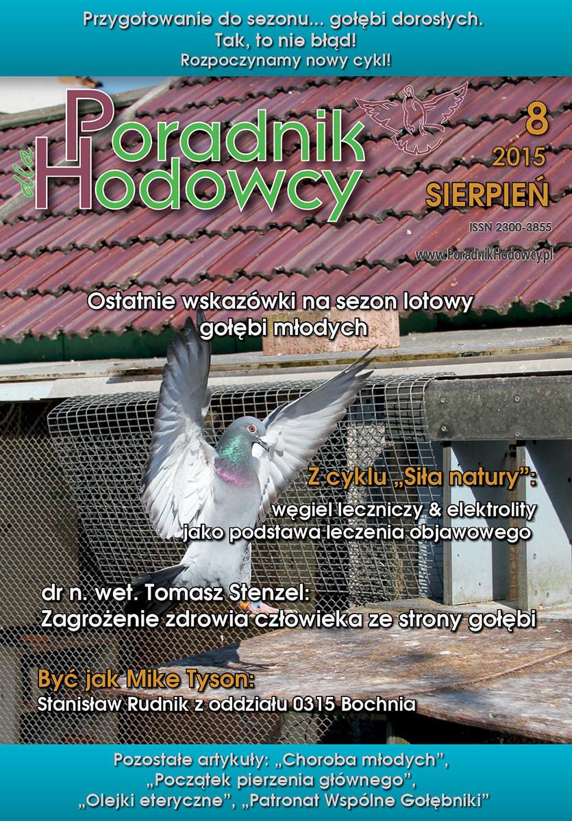 Okładka Poradnika Hodowcy numer sierpień 2015