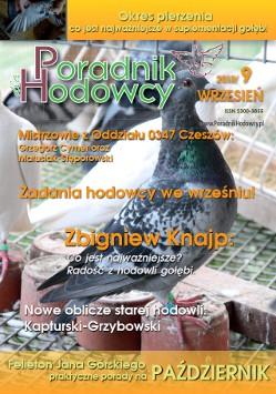 Okładka Poradnika Hodowcy numer 15 wrzesień 2013