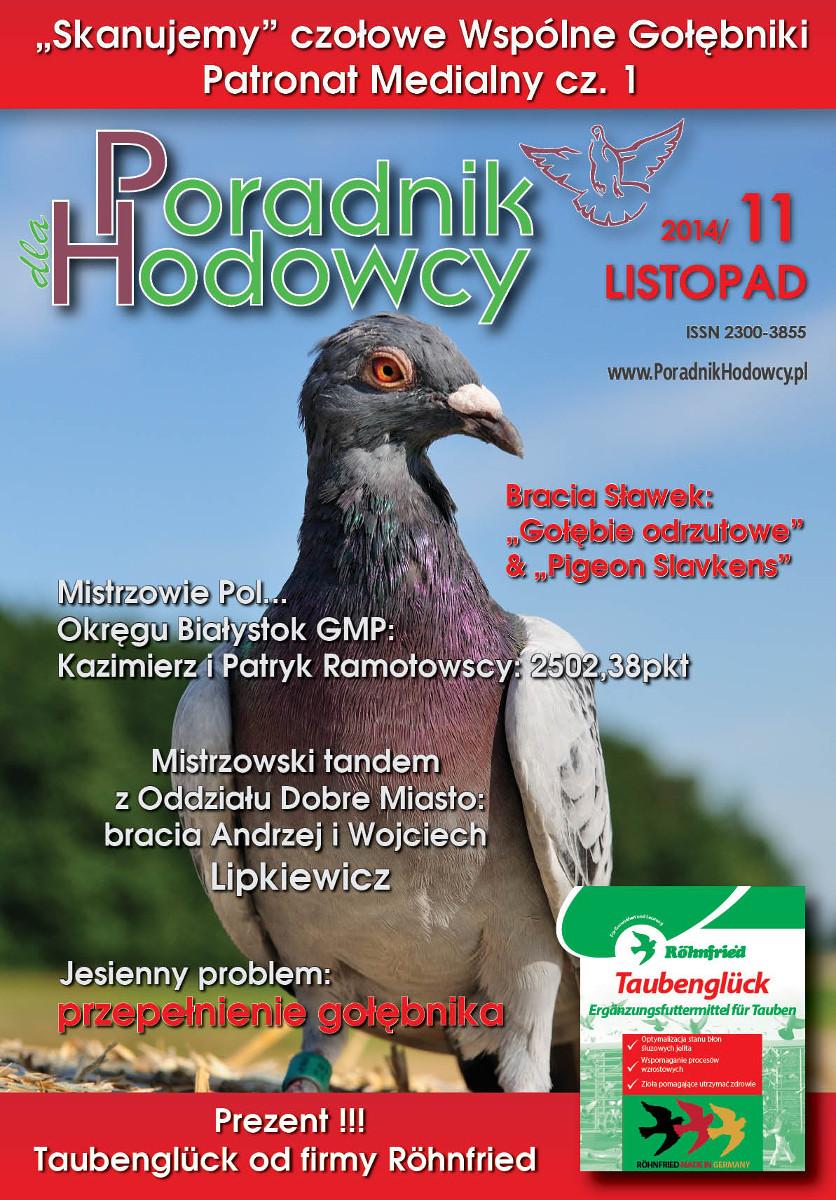 Okładka Poradnika Hodowcy numer listopad 2014