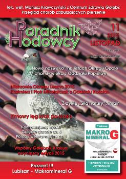 Okładka Poradnika Hodowcy numer listopad 2015