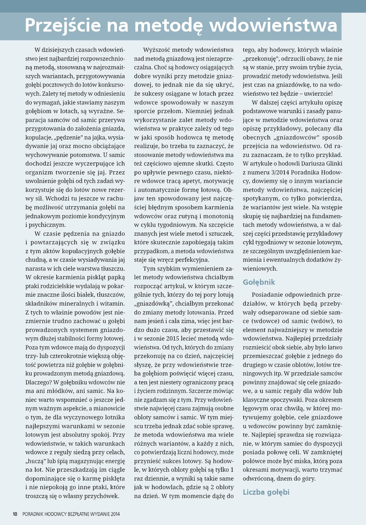 Darmowy numer specjalny Poradnika Hodowcy 2014 - strona 10