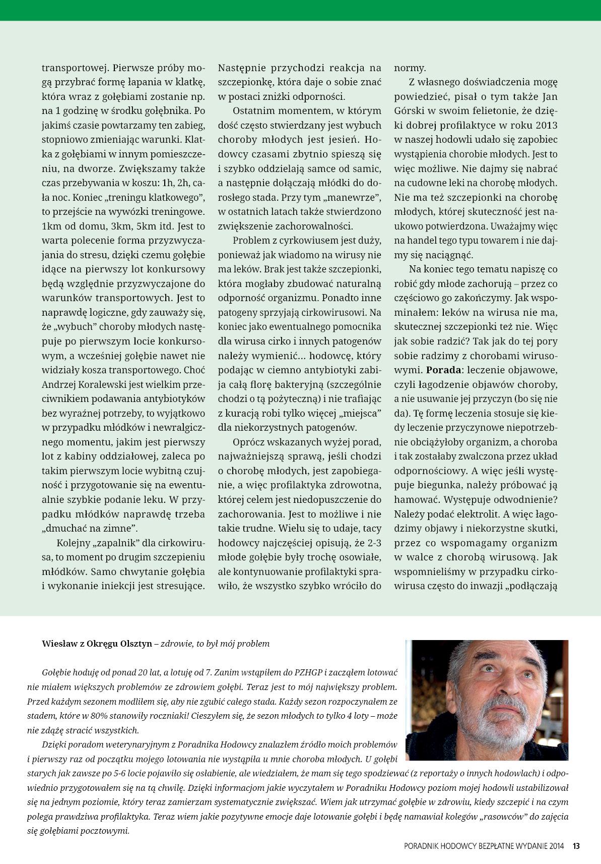 Darmowy numer specjalny Poradnika Hodowcy 2014 - strona 13