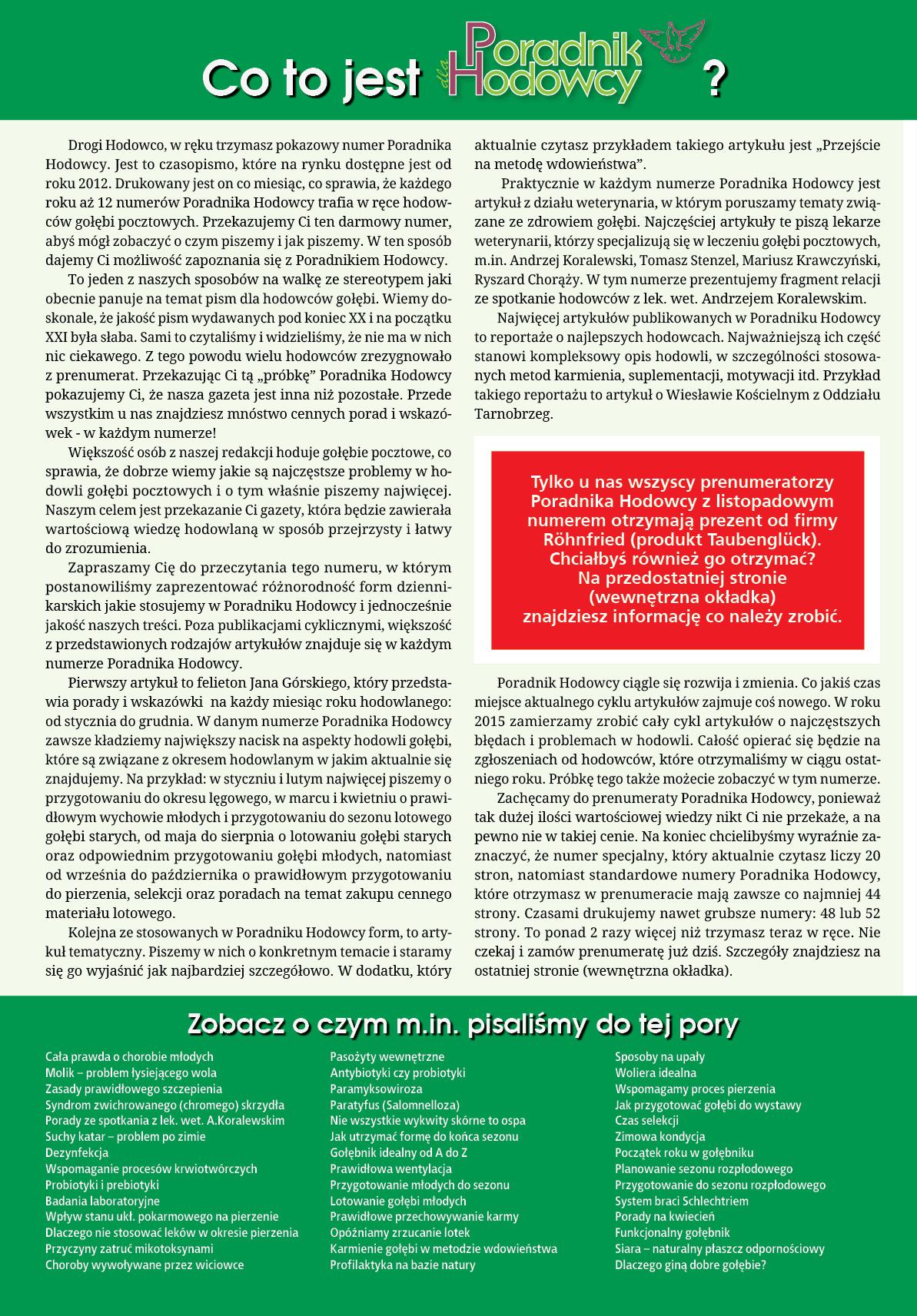 Darmowy numer specjalny Poradnika Hodowcy 2014 - strona 2