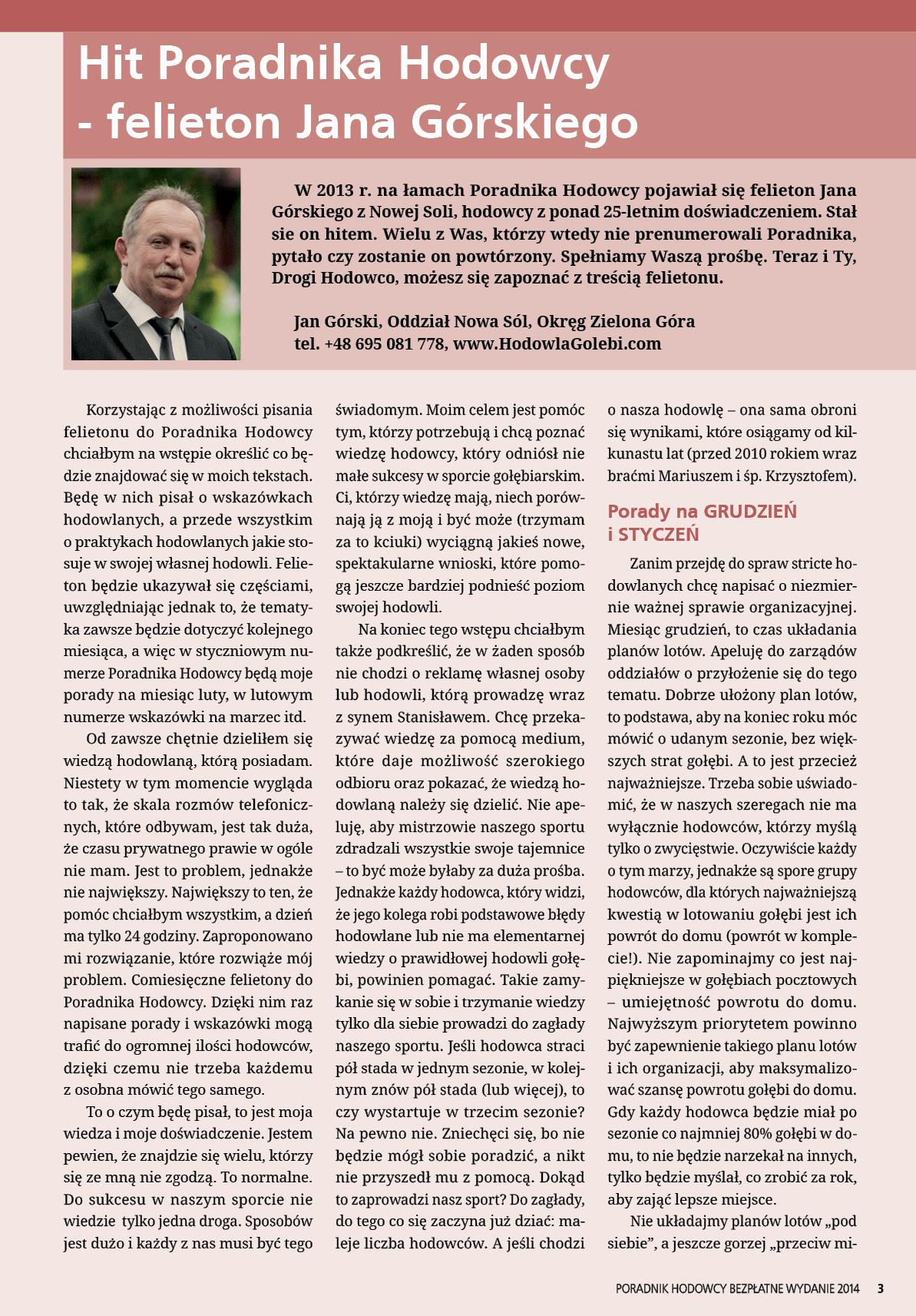 Darmowy numer specjalny Poradnika Hodowcy 2014 - strona 3