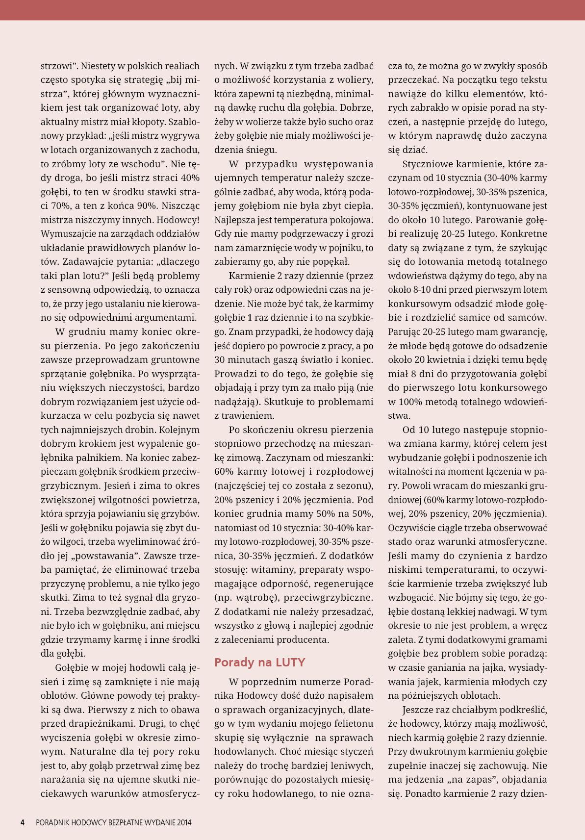 Darmowy numer specjalny Poradnika Hodowcy 2014 - strona 4