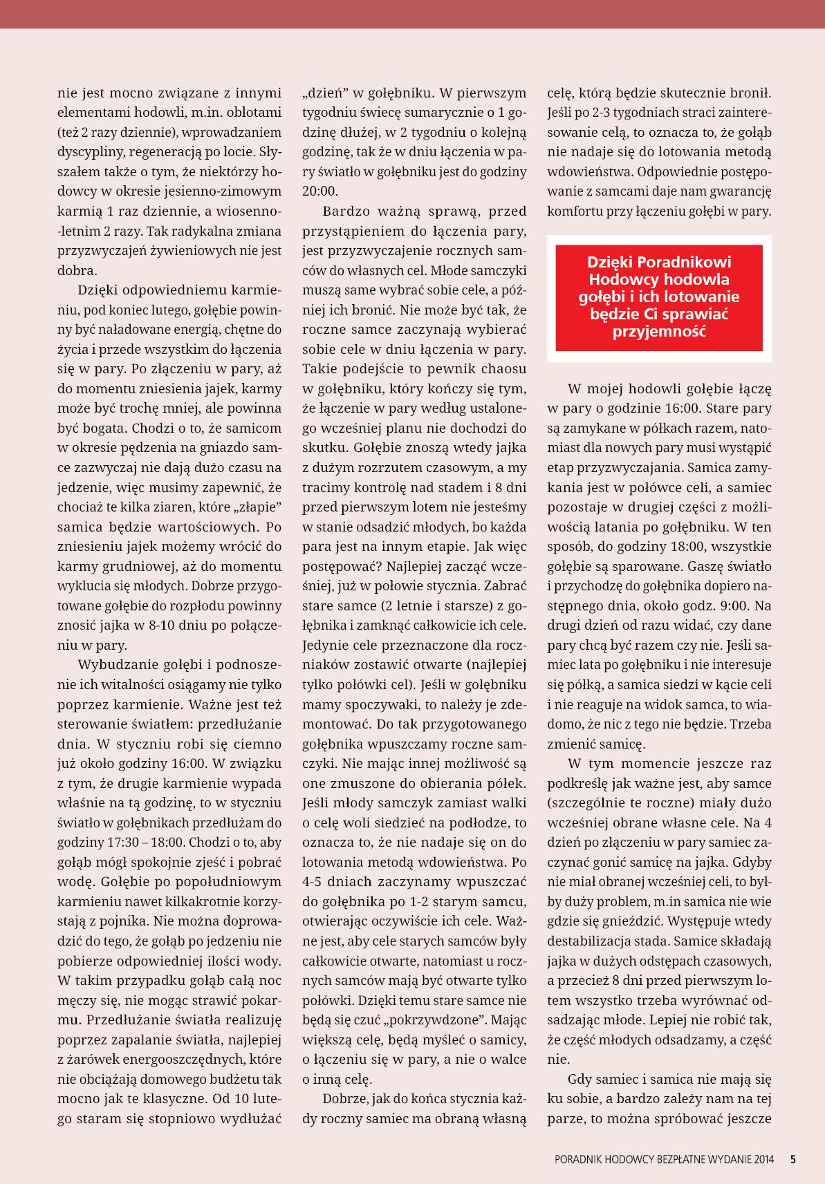 Darmowy numer specjalny Poradnika Hodowcy 2014 - strona 5