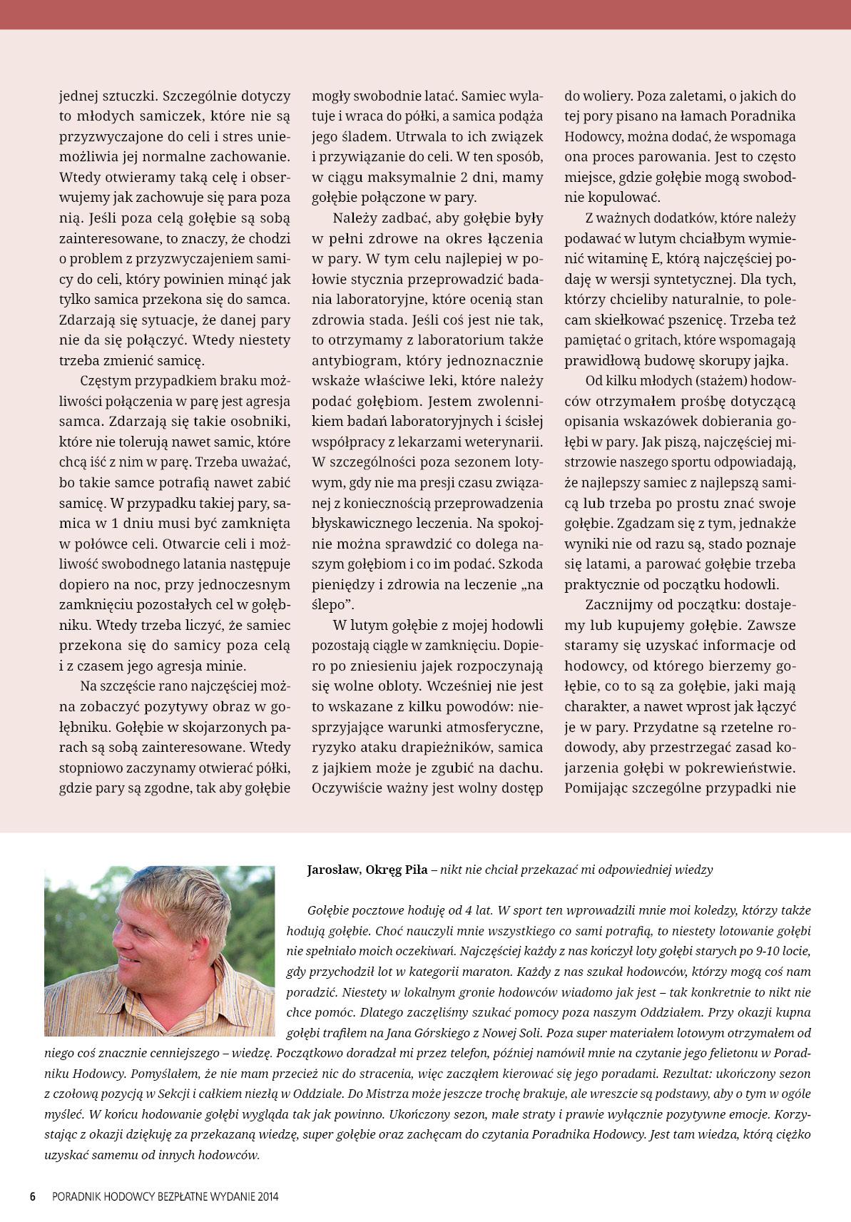 Darmowy numer specjalny Poradnika Hodowcy 2014 - strona 6