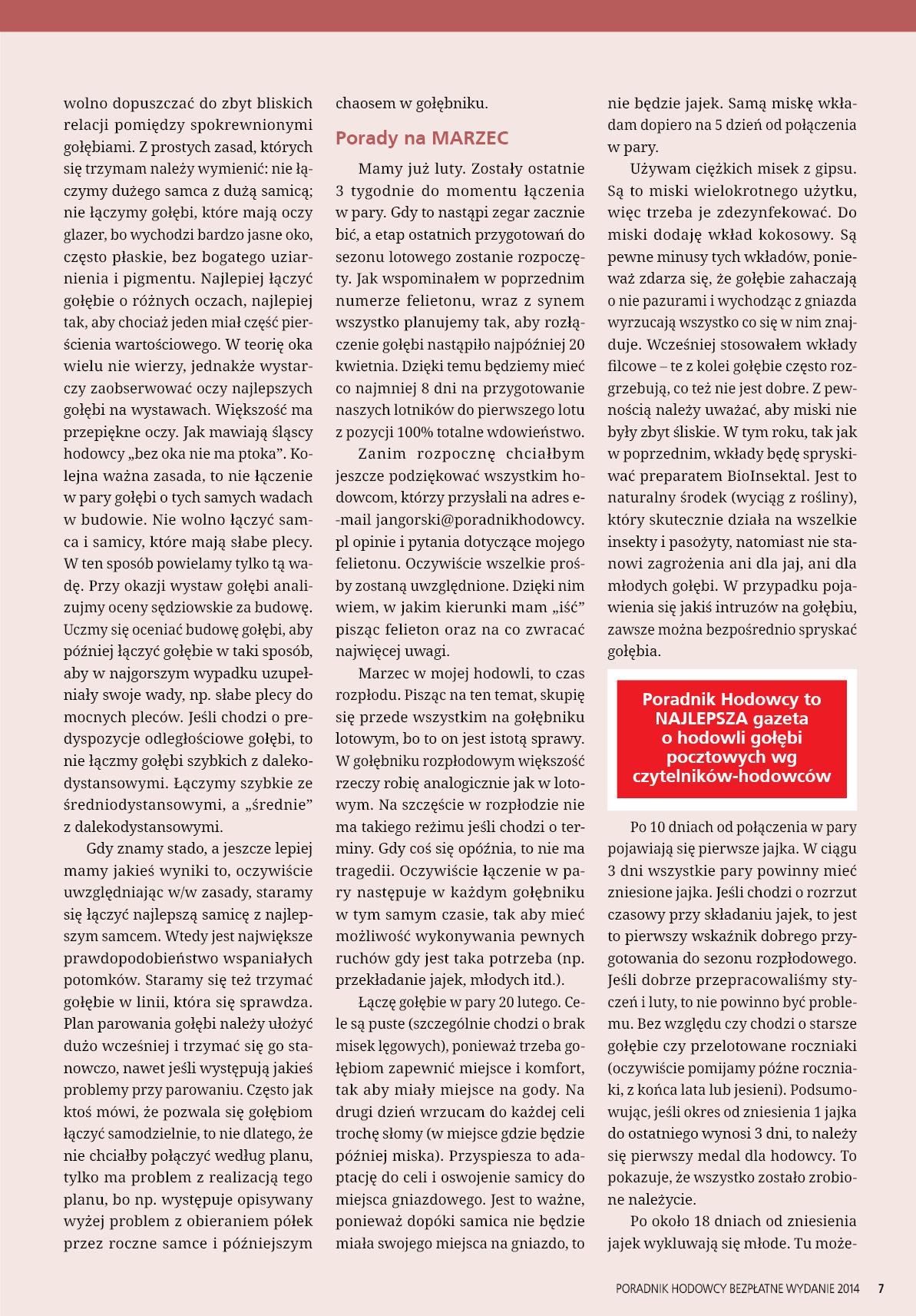 Darmowy numer specjalny Poradnika Hodowcy 2014 - strona 7