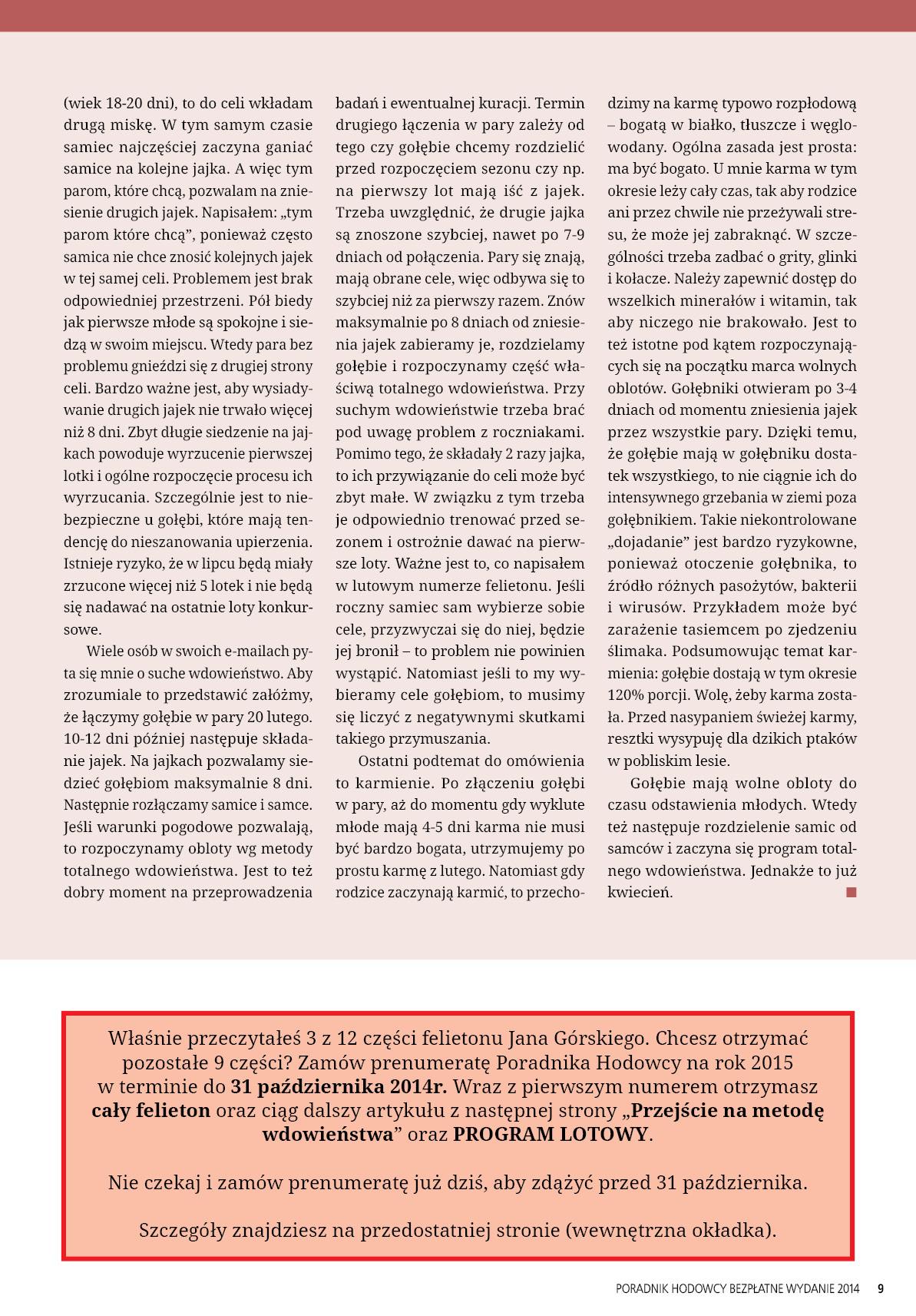 Darmowy numer specjalny Poradnika Hodowcy 2014 - strona 9